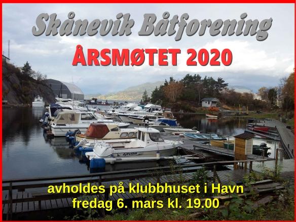 Plakat årsmøtet 2020